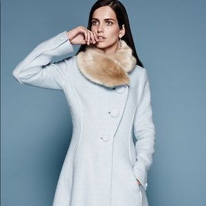 Light Blue Wool Coat